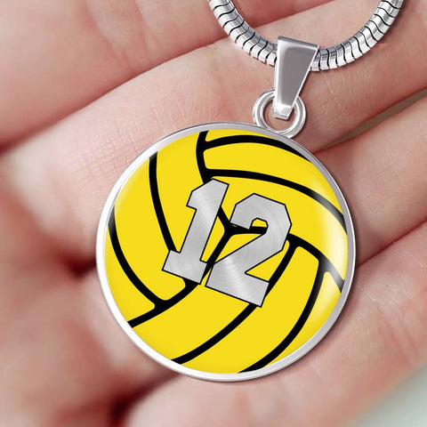 Water Polo #12 (Original) Exclusive Round Pendant Necklace