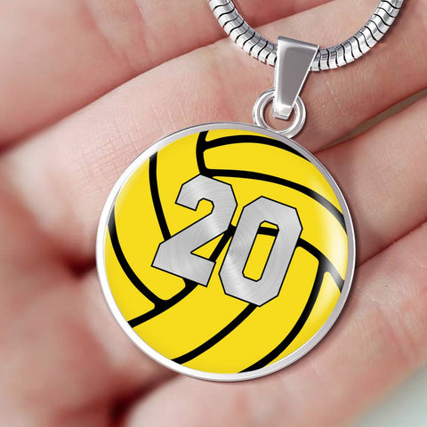 Water Polo #20 (Original) Exclusive Round Pendant Necklace