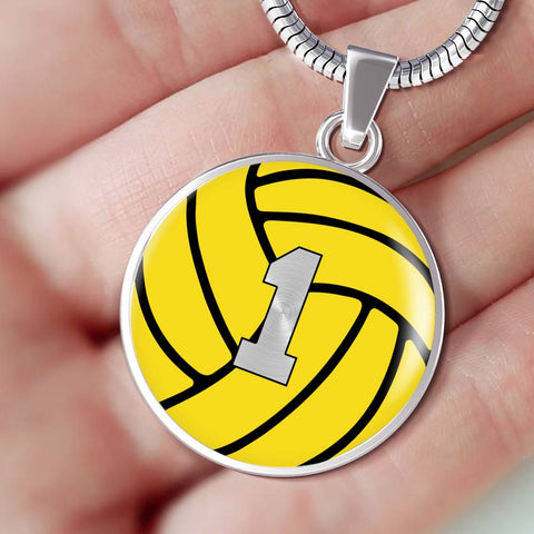 Water Polo #1 (Original) Exclusive Round Pendant Necklace
