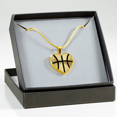 Gold Basketball Heart Pendant (Limited Edition)
