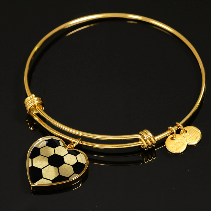 Gold Soccer Heart Pendant (Limited Edition)