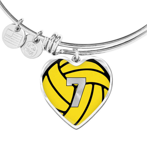 Water Polo #7 (Original) Exclusive Heart Pendant Bangle