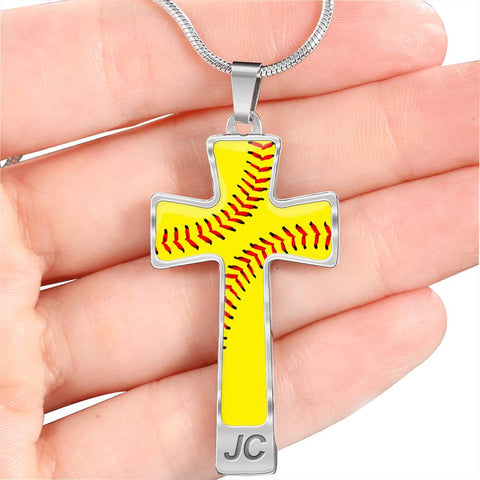 Softball (Original) Luxury Cross Necklace