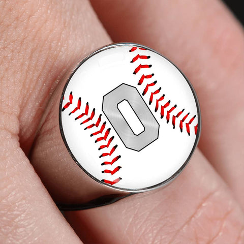 Baseball #0 (Original) Exclusive Signet Ring