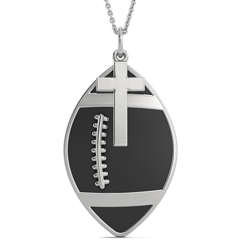 Steel Faith & Football Necklace