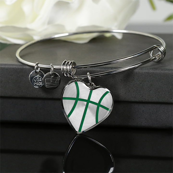 Basketball Green Heart Pendant (Limited Edition)