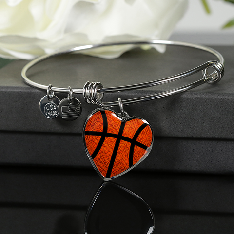 Basketball Heart Pendant (Original)