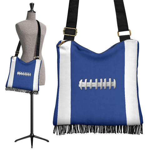 Football Blue Crossbody Boho Handbag