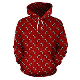 Football Pattern Crimson Red Premium Hoodie