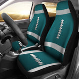 Football Teal Premium Car Seat Covers (Set of 2)
