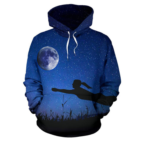 Volleyball Moon And Stars Premium Hoodie
