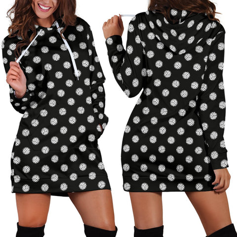 Volleyball Black Hoodie Dress