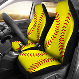 Softball Premium Car Seat Covers (Set of 2)