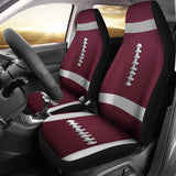Football Maroon Premium Car Seat Covers (Set of 2)