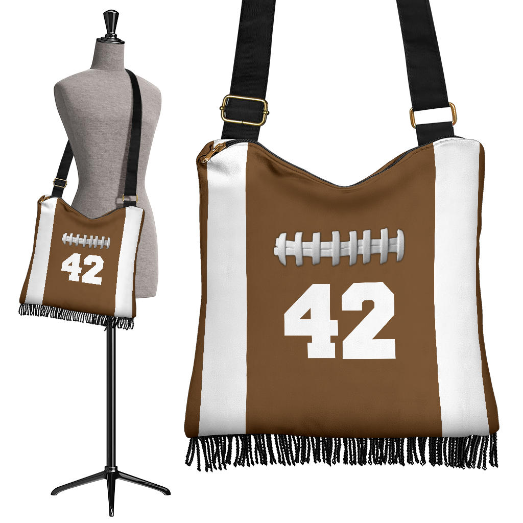 Football (Original) #42 Crossbody Boho Handbag