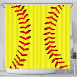 Softball Premium Shower Curtain