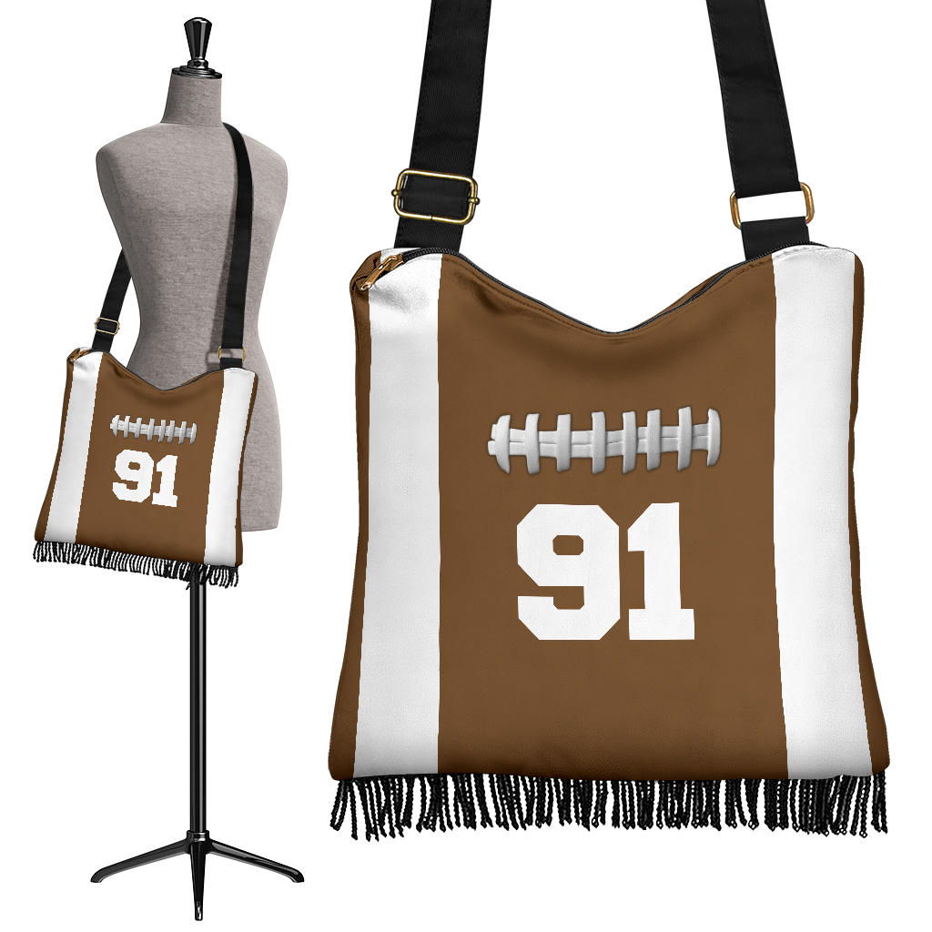Football (Original) #91 Crossbody Boho Handbag