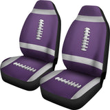 Football Purple Premium Car Seat Covers (Set of 2)