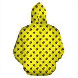 Football Pattern Yellow Premium Hoodie