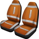 Football Orange Premium Car Seat Covers (Set of 2)