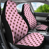 Football Pattern Pink Premium Car Seat Covers (Set of 2)