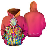 Colorful Baseball Labrador Retriever Premium Hoodie