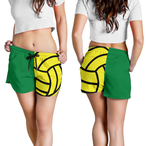 Water Polo Green Women's Shorts