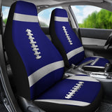 Football Navy Blue Premium Car Seat Covers (Set of 2)
