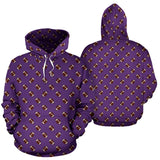 Football Pattern Purple Premium Hoodie