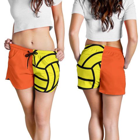 Water Polo Orange Women's Shorts