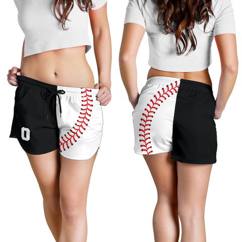 Baseball #0 Women's Shorts