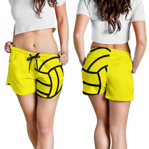 Water Polo Yellow Women's Shorts