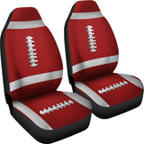 Football Red Premium Car Seat Covers (Set of 2)