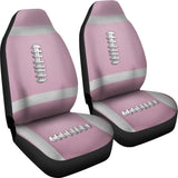 Football Pink Premium Car Seat Covers (Set of 2)