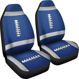Football Blue Premium Car Seat Covers (Set of 2)