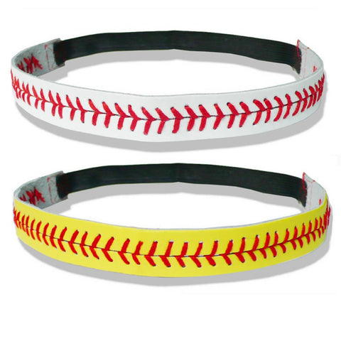 Headband - 30% Off + Shipping - Leather Baseball Football & More Headbands: (2 Headbands) - 30% OFF