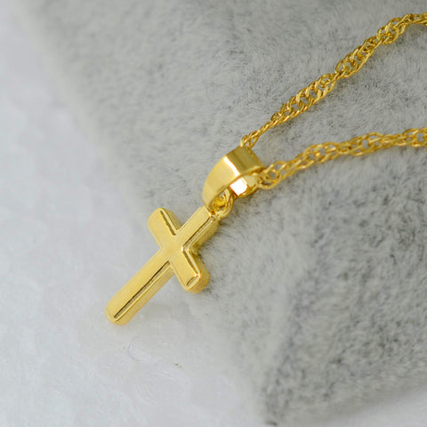 Small cross pendant necklace for women or girls,