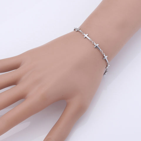 Cross Trendy Stainless Steel Chain Bracelet