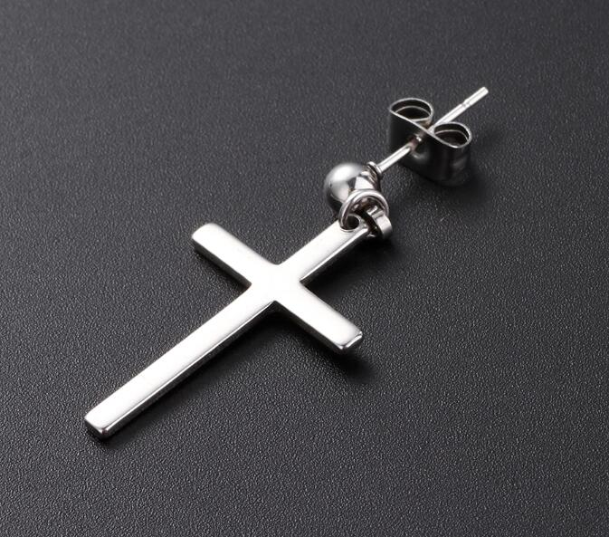 Cross earrings  pendant men & woman 1 pair