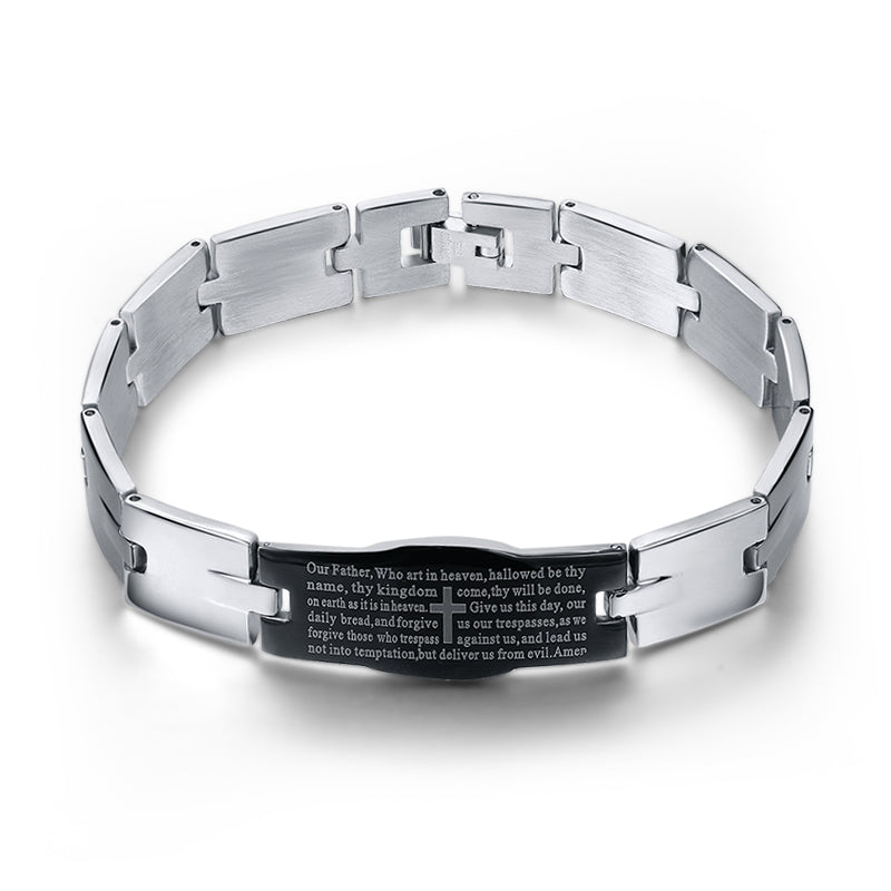 Men's Trendy  Bracelets Cross Sign Bangles