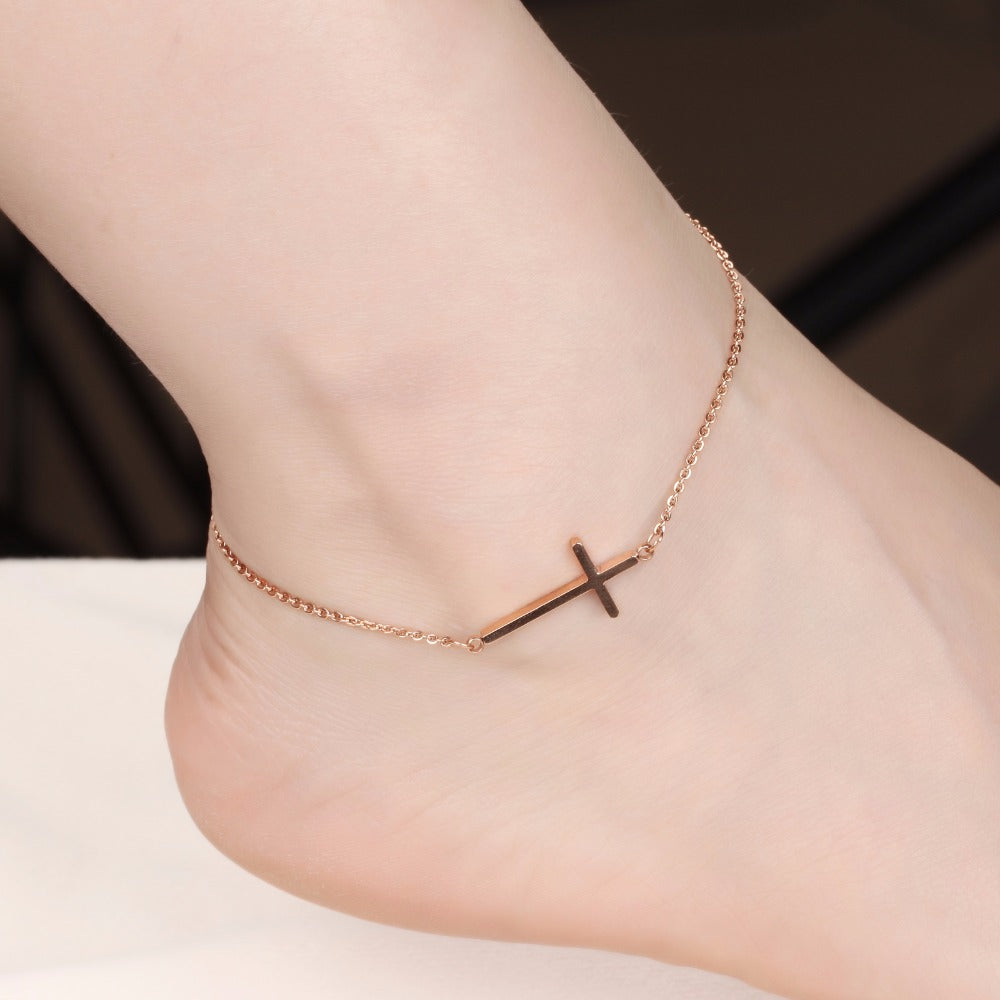Rose gold plating Ankle Chain Bracelet