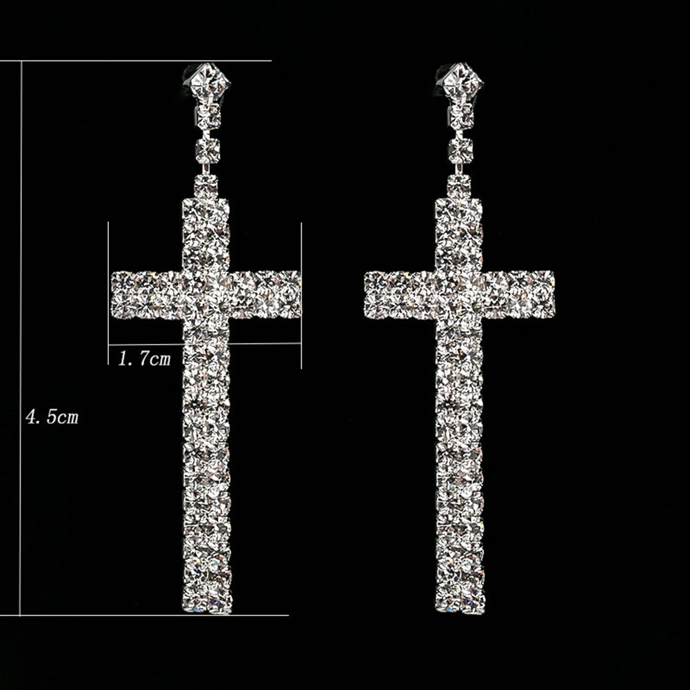 Women's Rhinestone Cross Pendant
