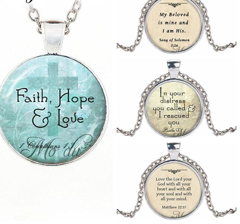Bible Verse Pendant Love Hope Faith