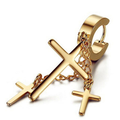 Multi-layer chain, Cross earrings