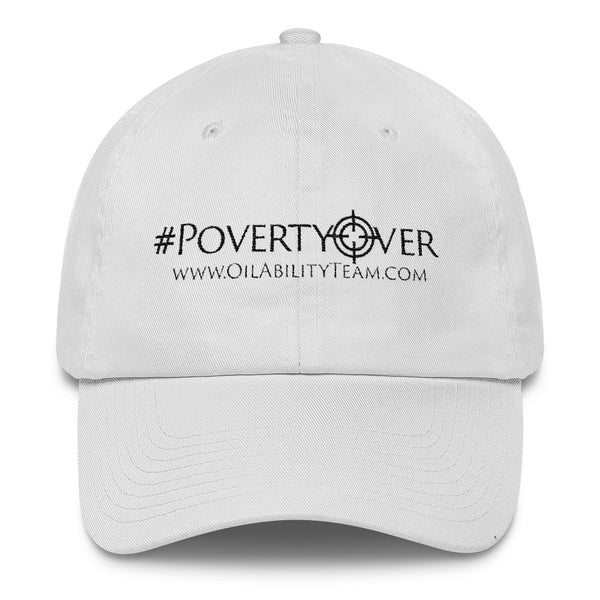 #PovertyOver Hat White