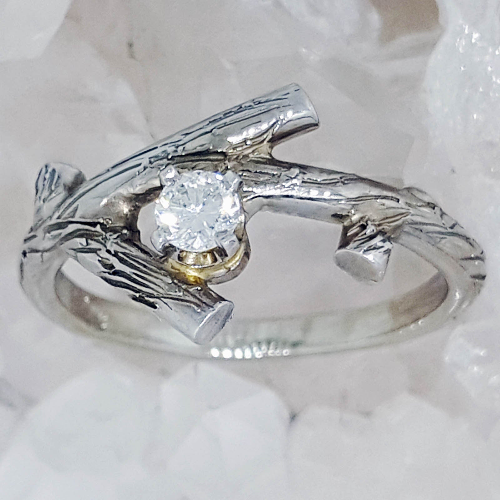 custom rough il stone with gold yellow diamond listing twig made engagement rings wedding fullxfull rose band white uncut in ring branch and