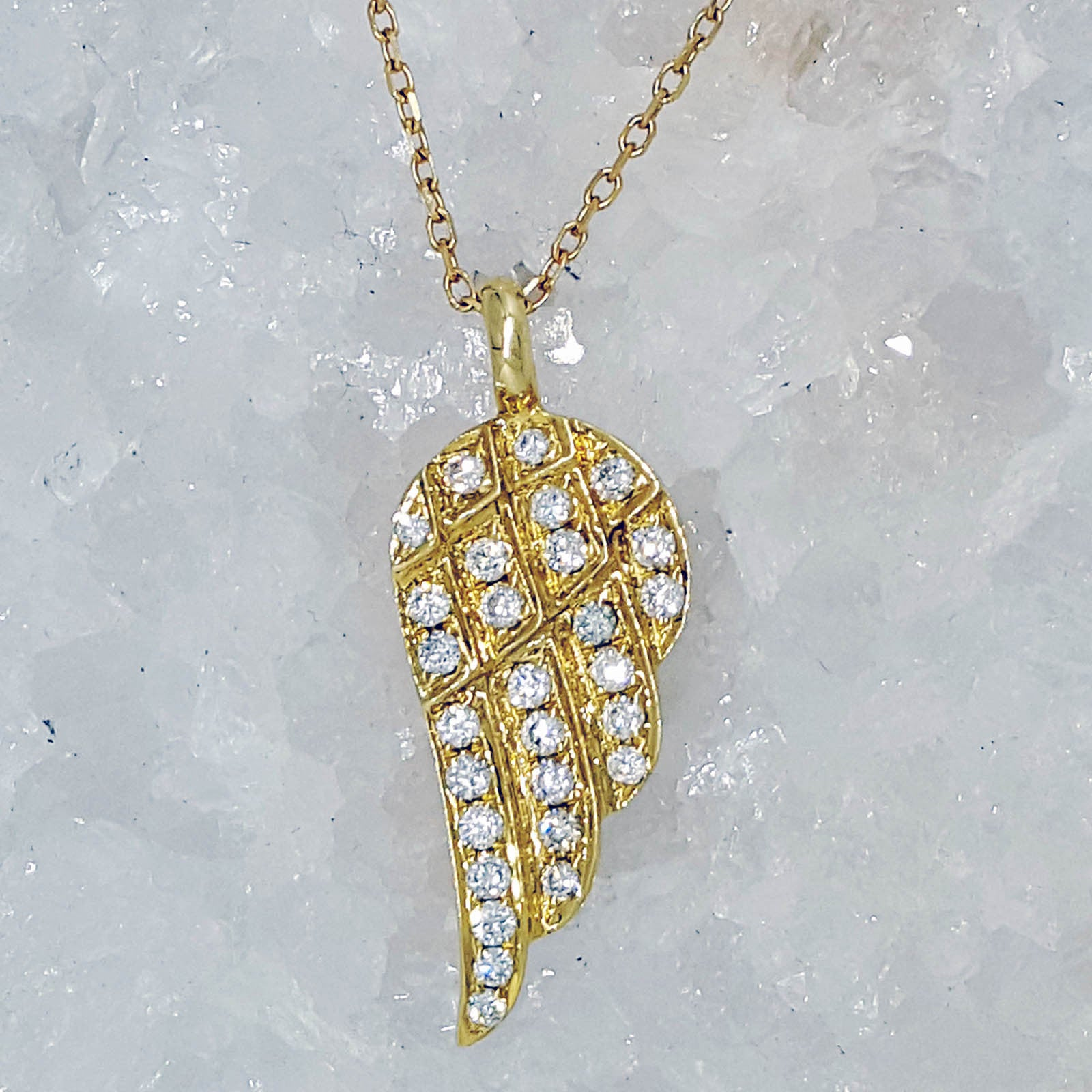 from amp diamond necklace pendants of gold angel wing jewellery white necklaces frost image
