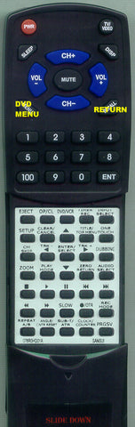 SANSUI 076N0HQ010 Replacement Remote