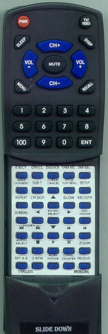 BROKSONIC 076R0JJ01A Replacement Remote