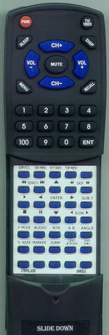 SANSUI HDLCDVD320B Replacement Remote